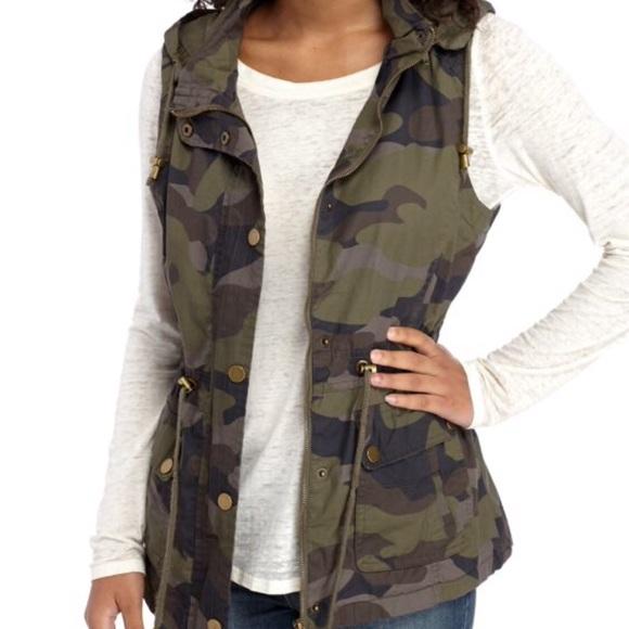 d5b1221329a69 YMI Jackets & Coats | Camo Hooded Utility Jacket Vest | Poshmark
